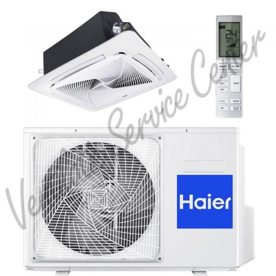 Haier Cassette Round Way airco binnen-buitenunit 7,1 kW inclusief standaard paneel en IR afstandsbediening