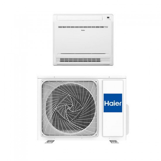 Haier binnen + buitenunit wand Console wit 2,5 kW R32 inclusief IR afstandsbediening