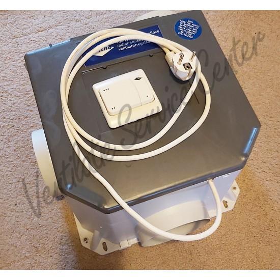 Itho Daalderop CVE166 gereviseerde ventilatiebox met draadloze RF zender en euro stekker (Woonhuisventilatie)
