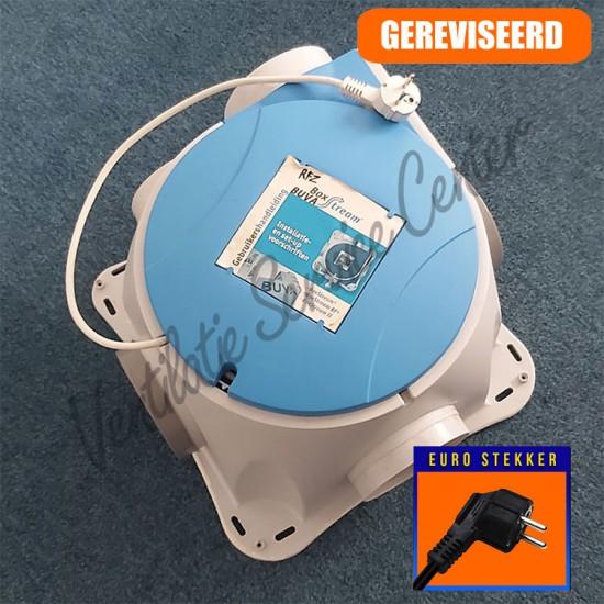 Buva Boxstream gereviseerde ventilatiebox met euro stekker (Woonhuisventilatie)