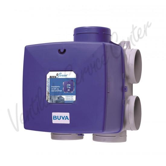Buva Qstream gereviseerde woonhuis ventilatiebox met euro stekker (Woonhuisventilatie)