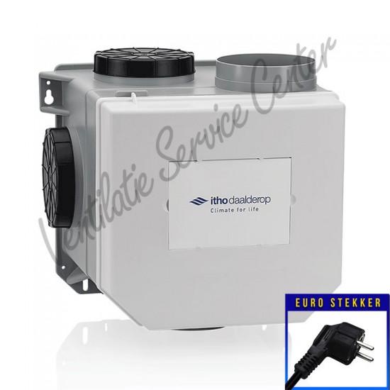 Itho Daalderop CVE-S ECO SE ventilatiebox met vochtsensor, eurostekker 03-00398 (Woonhuisventilatie)