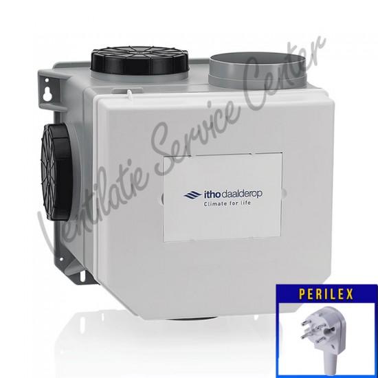 Itho Daalderop CVE-S ECO SP ventilatiebox met vochtsensor PERILEX stekker 03-00400 (Woonhuisventilatie)