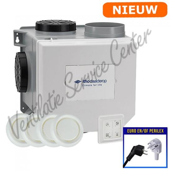 Itho Daalderop CVE-S ECO ventilatiepakket met vochtsensor 03-00404 (Woonhuisventilatie)