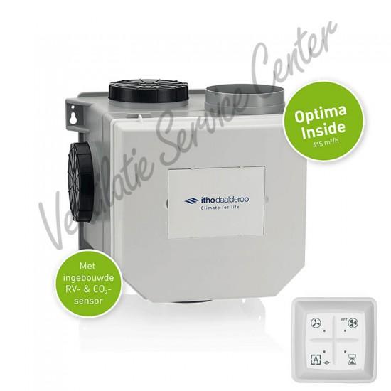 Itho Daalderop Optima Inside pakket vocht- en CO2-sensor inside 03-00421 (Woonhuisventilatie)