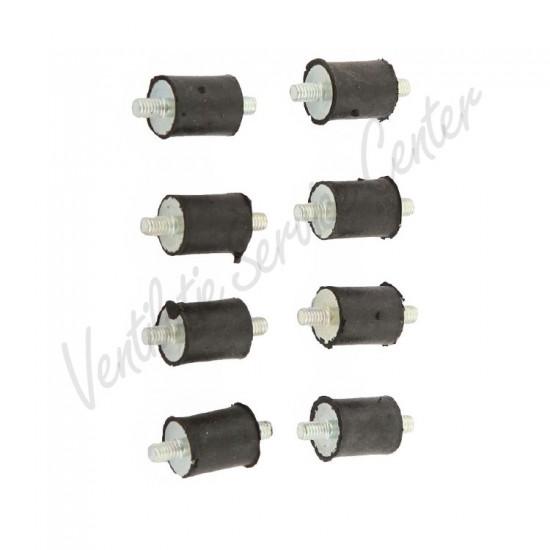 Itho Daalderop set trillingsdempers 8 stuks tbv HRU/3 CVE 545-4680 (Ventilatiebox onderdelen)