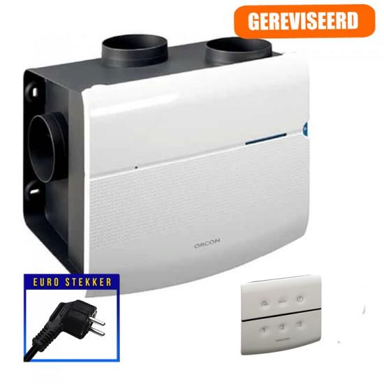 Orcon SmartLine MVS-15RHB woonhuisventilator met vochtsensor en draadloze RF bediening (Woonhuisventilatie)