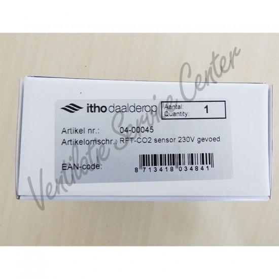 Itho Daalderop RFT Co2 sensor opbouw inclusief bediening 230V 04-00045 (Regelingen)