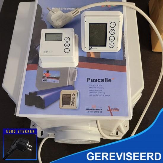 R-vent Pablo gereviseerde ventilatiebox met hoofdbediening en draadloze RF zender en euro stekker (Woonhuisventilatie)