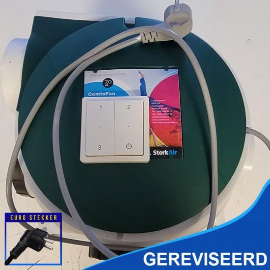 Stork Zehnder CMFe gereviseerde ventilatiebox met nieuw type motor en draadloze zender (Woonhuisventilatie)