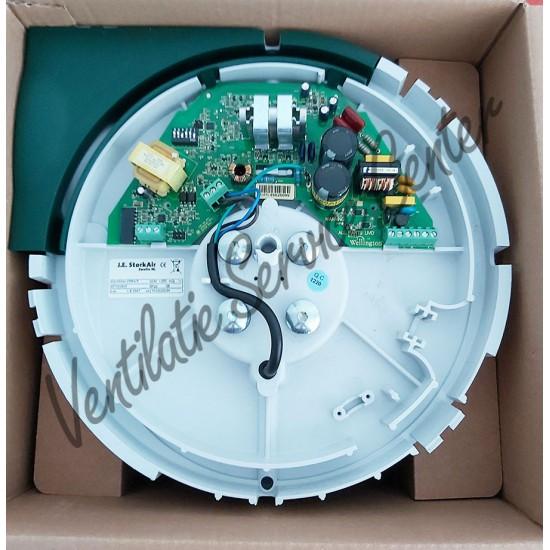 Stork Zehnder CMFe gereviseerde ventilatiebox met draadloze RF zender en euro stekker (Woonhuisventilatie)