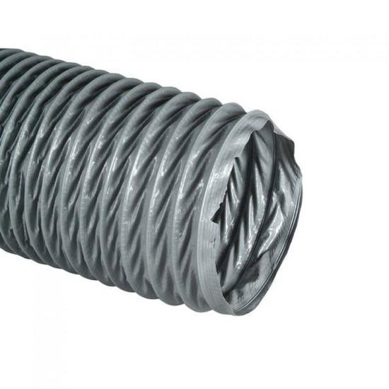 Ventilatieslang pvc grijs 125mm lengte van 10 meter (Ventilatie toebehoren)