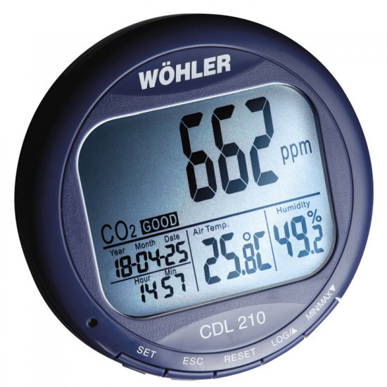 Wöhler CDL 210 CO2-datalogger 6648