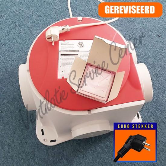 Zehnder Stork gereviseerde ventilatiebox Comfofan S met euro stekker en draadloze zender (Woonhuisventilatie)